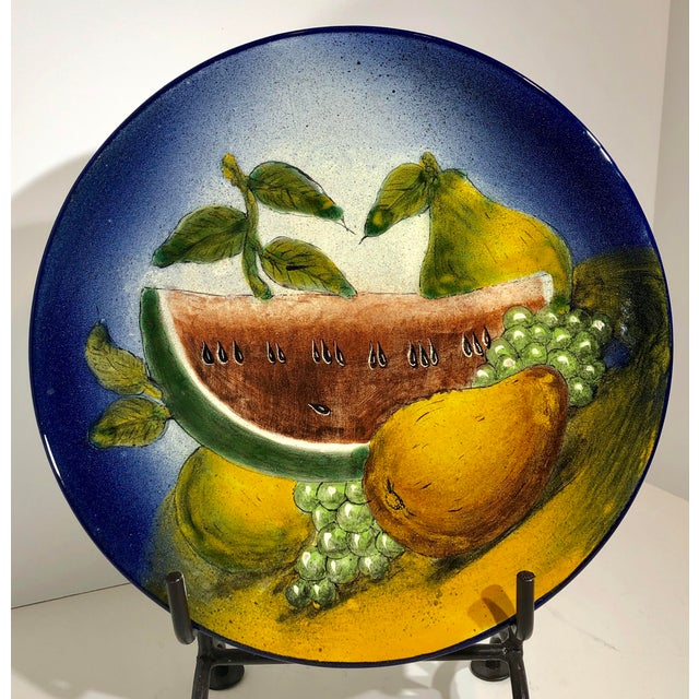 Traditional Southwestern Rustic Mexican Hand Painted Plate For Sale In Phoenix - Image 6 of 6