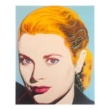 "Image of Andy Warhol Estate Rare Vintage 1989 Collector's Pop Art Lithograph Print "" Grace Kelly "" 1984 For Sale"