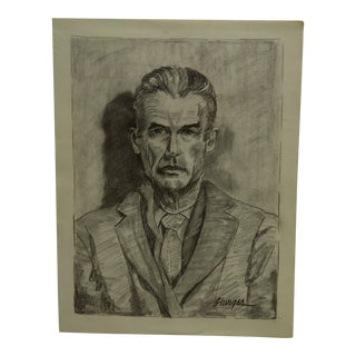 "Mid-Century Modern Original Drawing on Paper, ""Dapper Gent"" by Tom Sturges Jr"