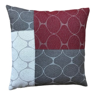 Room & Board Fabric Reversible Tri-Color Pillow For Sale
