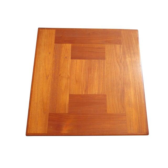 1960s Danish Mid-Century Modern Henning Kjaernulf Vejle Stole Møbelfabrik Side Table For Sale - Image 9 of 11
