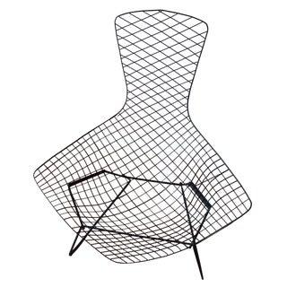 Knoll Bertoia Black Metal Bird Chair