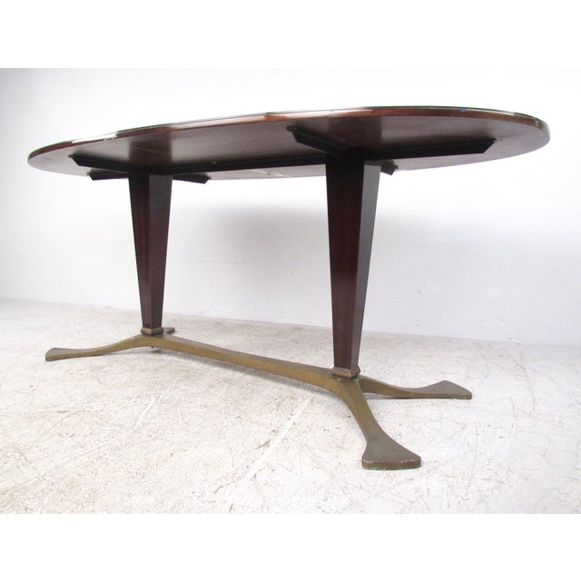 Italian Glass Top Dining Table For Sale In New York - Image 6 of 10