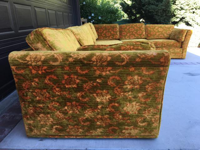 Mid Century Floral Sectional Sofa   Image 3 Of 3