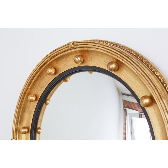 English Regency Style Round Convex Bullseye Mirror For Sale In San Francisco - Image 6 of 12