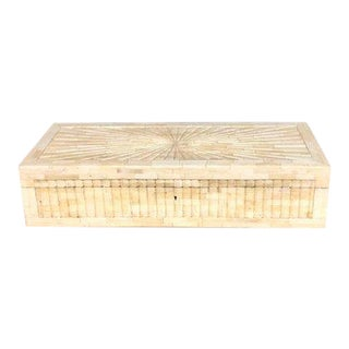 Large Tessellated Hinged Bone Box For Sale