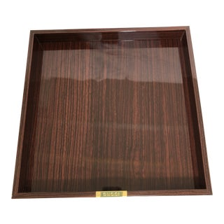 1990s Gucci Rosewood Lacquer Wooden Tray For Sale