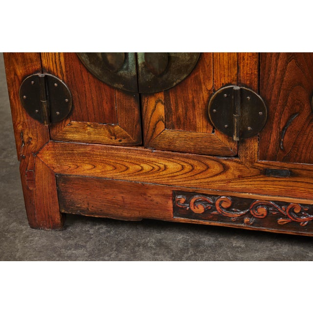 Brown Rare 19th Century Chinese Elm Sideboard For Sale - Image 8 of 10