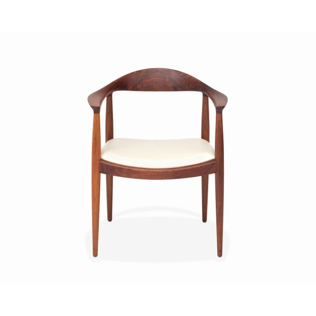 Mid-Century Modern Vintage Danish Modern Teak Jh 503 Chair by Hans Wegner For Sale - Image 3 of 8