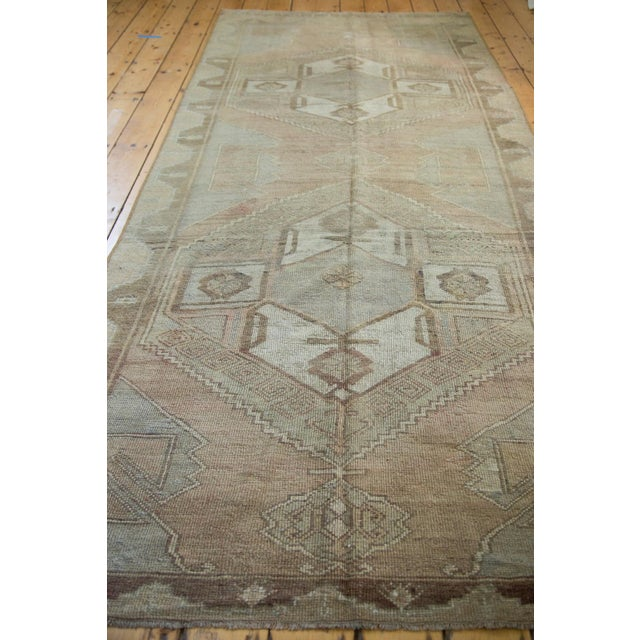 "Distressed Oushak Runner - 4'7"" X 10'8"" For Sale - Image 4 of 8"