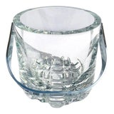 Image of 1970's Vintage Crystal Ice Bucket With Ice Glass Design For Sale