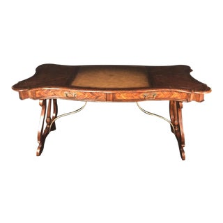 Theodore Alexander Castle Bromwich Mahogany & Leather Writing Desk For Sale