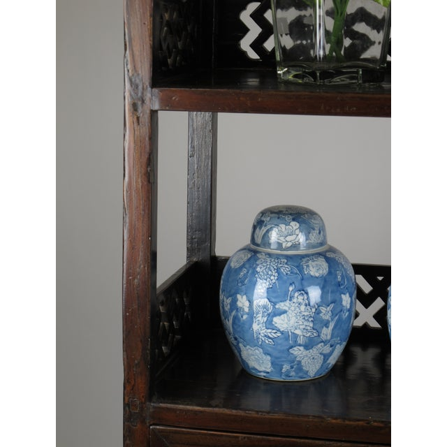 Asian Style Elmwood Book Cabinet For Sale - Image 5 of 8