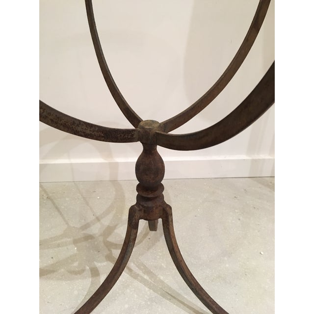 Metal 20th Century Shabby Chic Iron Accent Tables - a Pair For Sale - Image 7 of 10