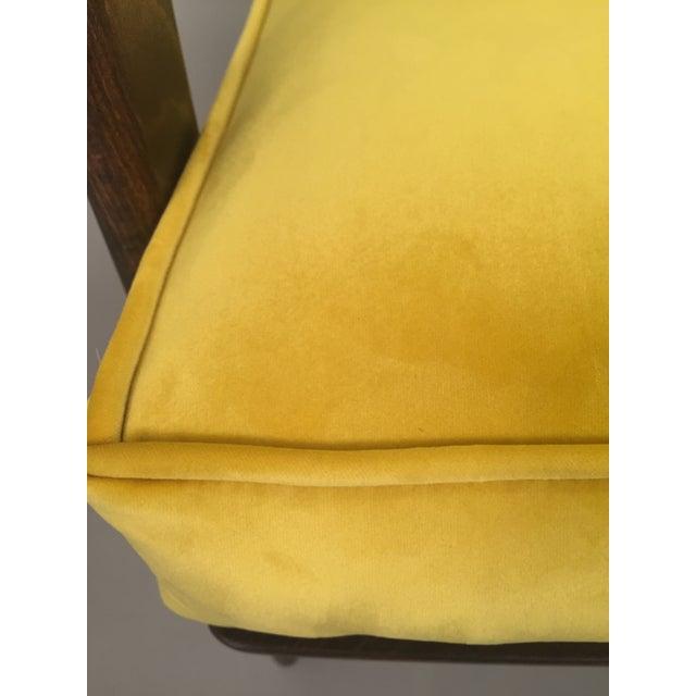 Mid-Century Modern Restored Arm Chair Velvet Cushions - Image 10 of 11
