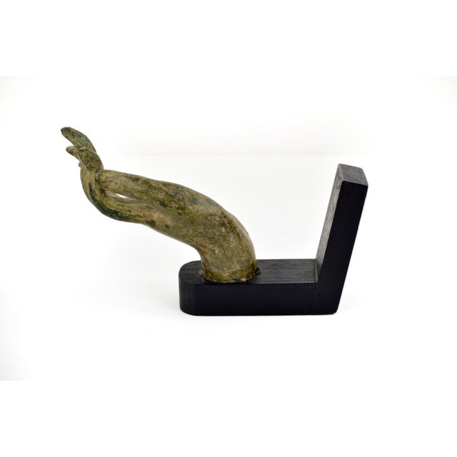 Antique Bronze Thai Buddha Hand Sculpture - Image 5 of 7