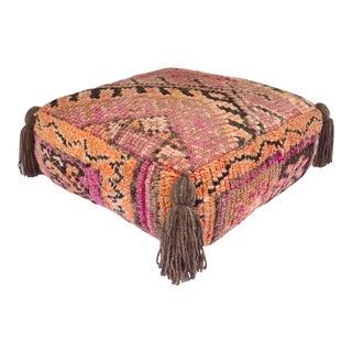1970s Lavender Berber Pouf For Sale