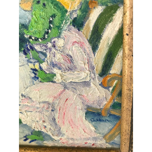 """Shabby Chic Genie Callan """"Alligators Sipping Lemonade"""" Oil Painting For Sale - Image 3 of 6"""