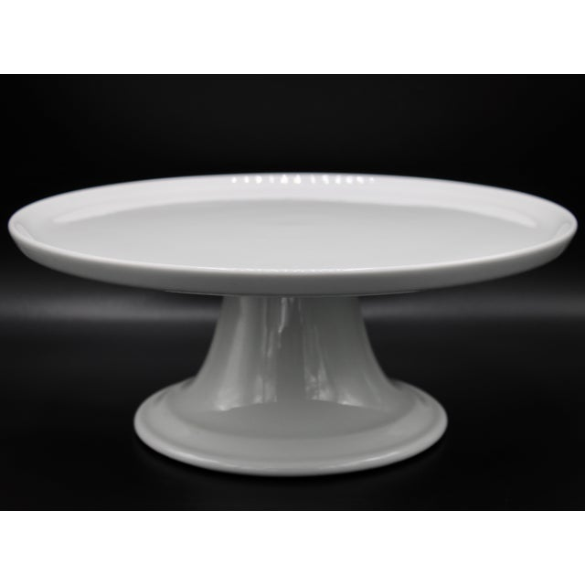 Mid Century Pillivuyt French Cake Stand For Sale - Image 10 of 11