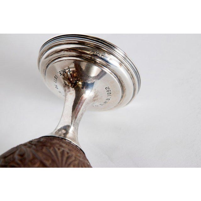 Late 18th Century Geroge III Coconut & Silver Goblet by Charles Hougham For Sale - Image 11 of 13