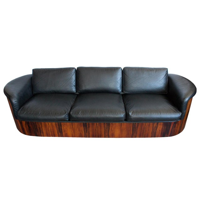1960s George Mulhauser for Plycraft Rosewood Case Sofa For Sale - Image 5 of 11