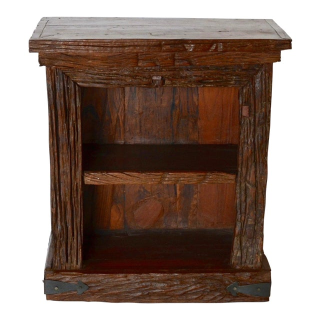 Rustic Simple Side Table For Sale