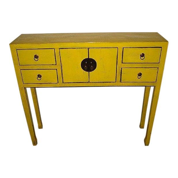 Daffodil Yellow Art Deco Desk For Sale