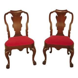 Georgian Paw Foot Mahogany Side Chairs - A Pair