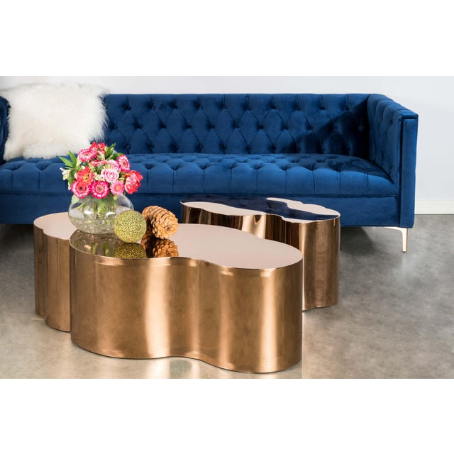 2010s Luca Coffee Table in Gold For Sale - Image 5 of 7