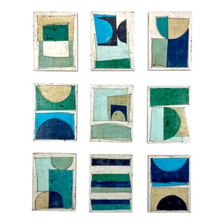 """Notes to My Younger Self"" 9 Panels Encaustic Collage Installation by Gina Cochran For Sale"