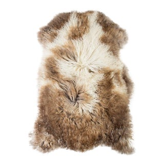 "Contemporary Natural Wool Sheepskin Pelt - 2'3""x3'2"" For Sale"