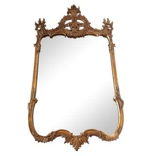 Vintage Gilt Wood Baroque Mirror For Sale