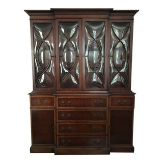 Mid-Century Breakfront China Cabinet For Sale