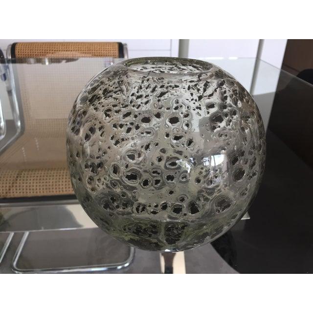 Decorative Round Art Glass Vase - Image 2 of 6
