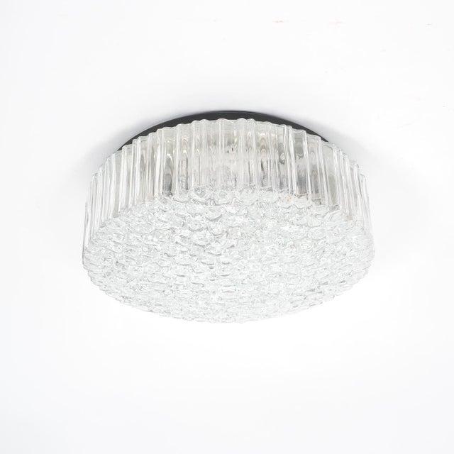 Pair of Glashütte Limburg Glass Flush Mounts Ceiling Lights, Germany, 1960 For Sale - Image 6 of 6