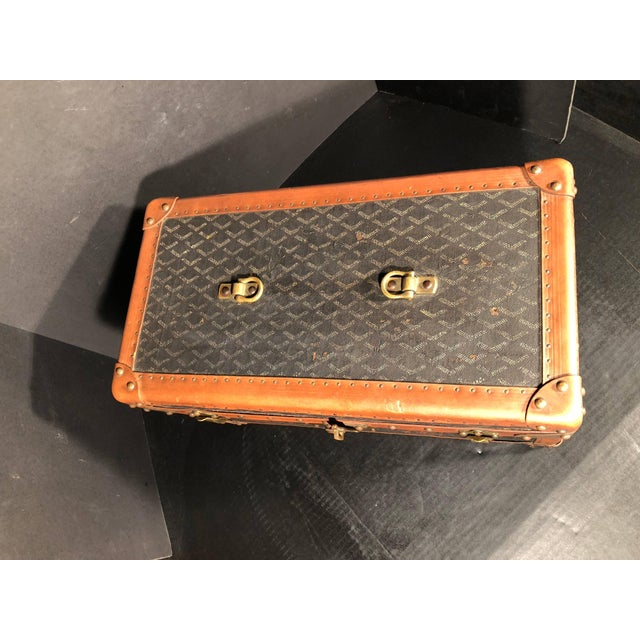 Goyard Jewelry or Valuables Trunk Train Case For Sale - Image 12 of 13