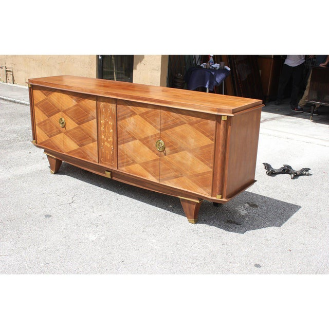 1940s French Art Deco Rosewood Sideboards or Buffet For Sale In Miami - Image 6 of 13