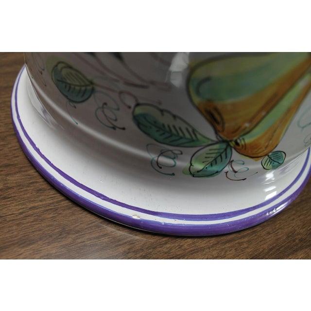 Vintage Italian Castelli Pottery Umbrella Stand Signed L. Pardi For Sale - Image 6 of 11