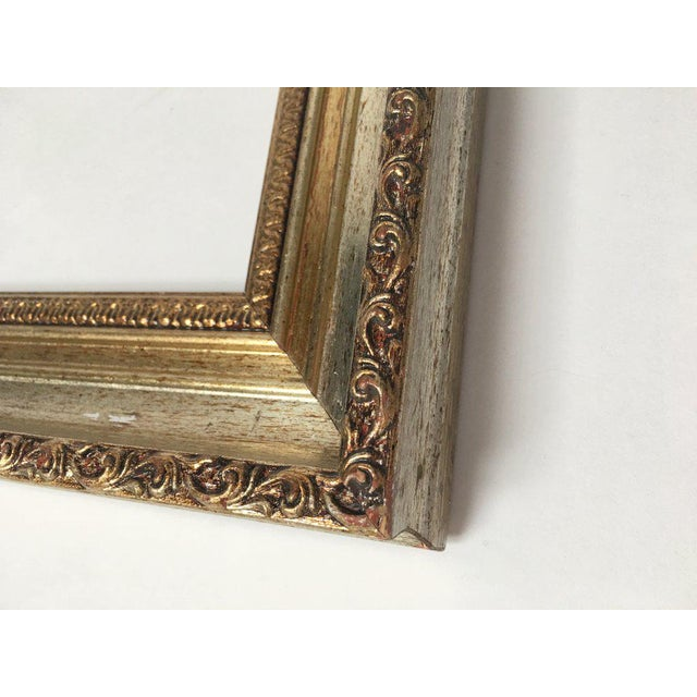 Large 34 X 28 Italian Gold and Silver Giltwood Ornate Wood Frames - a Pair For Sale - Image 12 of 13