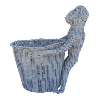Vintage Wicker Monkey Planter / Basket.