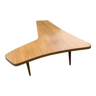 1950's Vintage Mid-Century Modern Boomerang Coffee Table For Sale