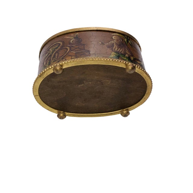 Antique French Chinoiserie Ink Well For Sale - Image 9 of 10