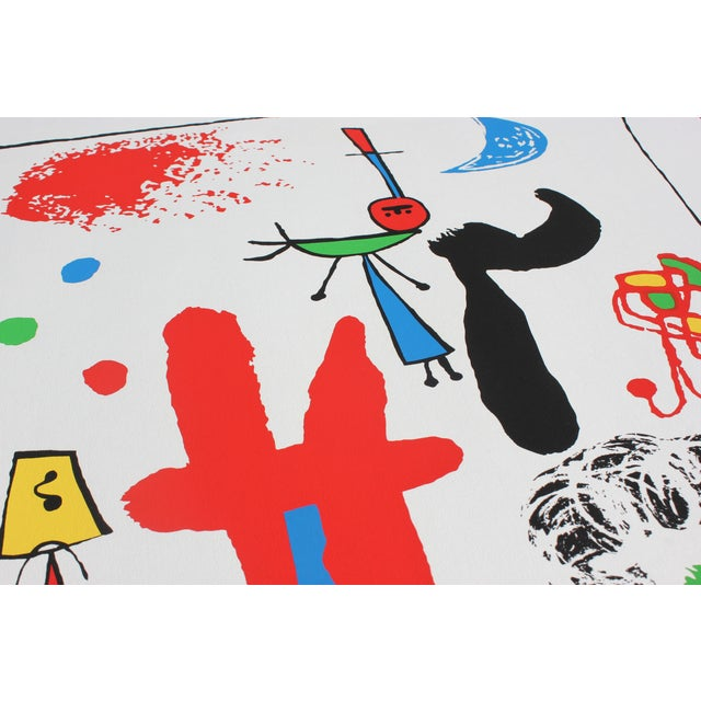 """""""Acrobats in the Night Garden"""" Print by Joan Miro For Sale - Image 7 of 8"""
