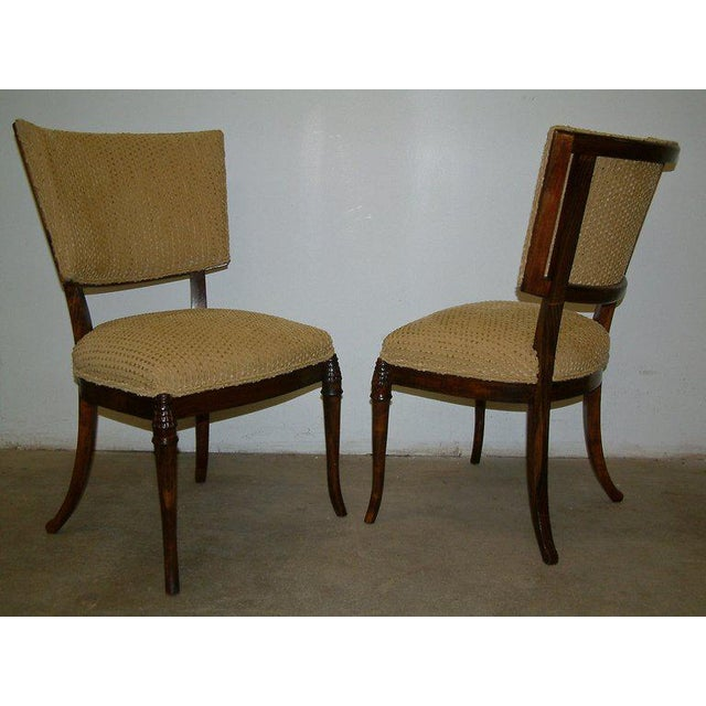 1930s 1930s Beechwood Klismos Chairs - A Pair For Sale - Image 5 of 8