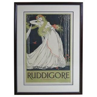 """Late 19th Century Vintage Original Art Nouveau """"Ruddigore"""" Poster For Sale"""
