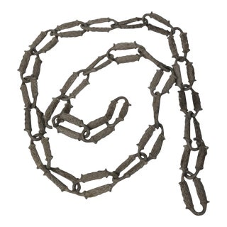 Rare 1920s Aluminum Decorative Chain For Sale