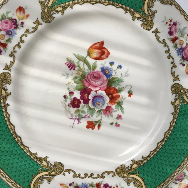 Early 20th Century Antique Myotts Staffordshire England China Luncheon Plates - Set of 5 For Sale - Image 4 of 8