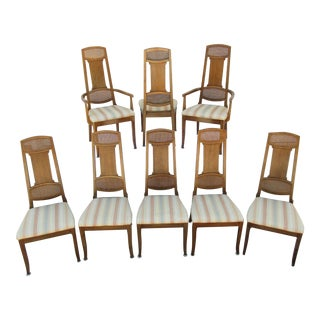 Mid-Century Modern Thomasville Dining Chairs -Set of Eight For Sale