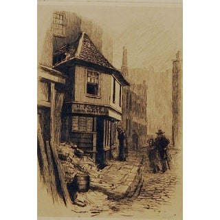 Old Curiosty Shop Etching by Alfred Walter Bayes For Sale