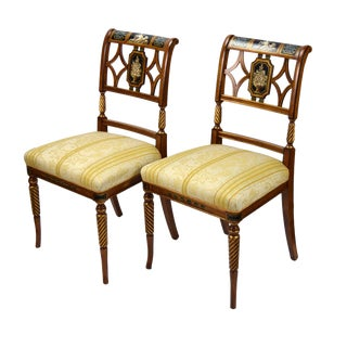 1990s Italian Fine Galimberti Lino Chairs - a Pair For Sale